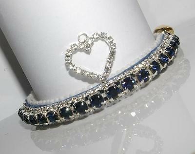 Be My Love Diamond Montana Blue Heart Perciosa Crystal Cat Collar