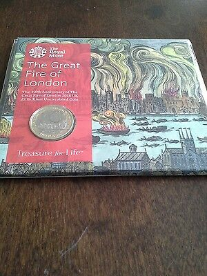 Royal Mint 2016 - Great Fire of London - Uncirculated Two Pound £2 Coin