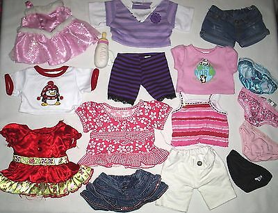 Large Group Lot of Build-a-Bear BAB Doll Animal Clothes