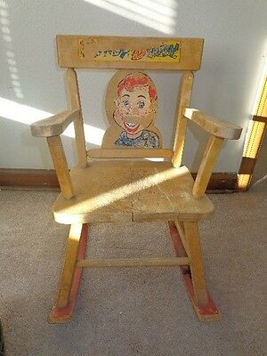 Rare 1950s Howdy Doody Child's / Doll Rocking Chair