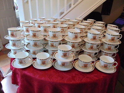 Boots Teddy Cups & Saucers (192 Pieces) In Good Unused Condition