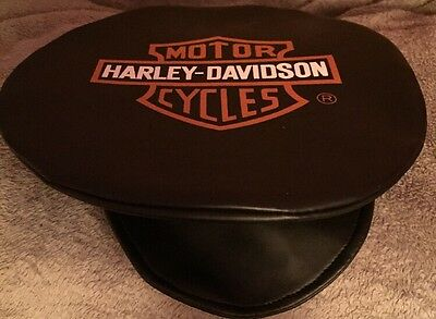 Harley Davidson Leather Cap Hat Newsboy Biker