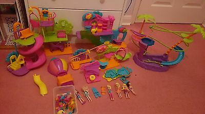 Polly Pocket bundle including various wall party pieces.