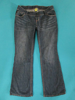 """Old Navy Maternity Jeans Boot Cut 18 Woven Waist Stretch Inseam 31"""""""
