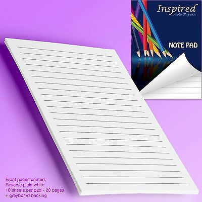 Notepad Notebook Jotter Note Paper Scribbling Pad Pocket Size Sketch pad✔100% UK