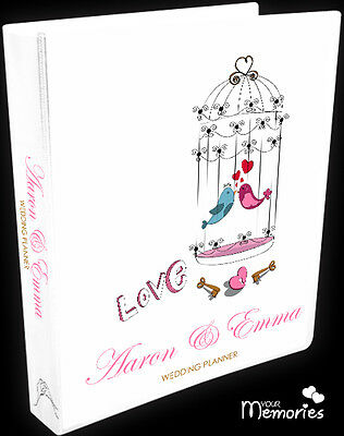 Wedding Planner/ love birds Gift Personal /Diary/Organiser/Engagement Present