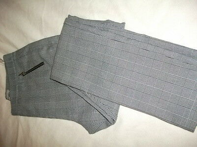 Ladies Grey/black/white stretch check trousers size 12