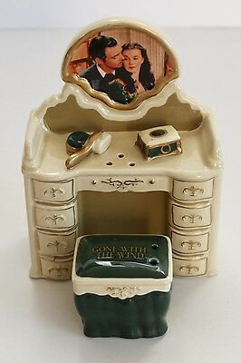 Gone with the Wind Salt and Pepper Shakers, Dressing Table, 70th Anniversary VGC