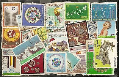 Pakistan : 100 Diff. Large Commemo. Stamps, Fu. # 8