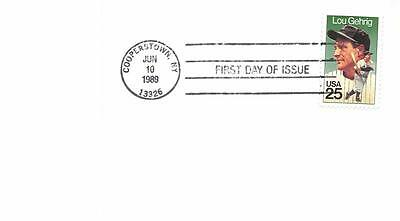 2417 25c Lou Gehrig, First Day Cover Cachet [E138260]