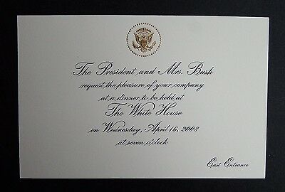 White House Arrival and Dinner Invitation - His Holiness Pope Benedict XVI 2008