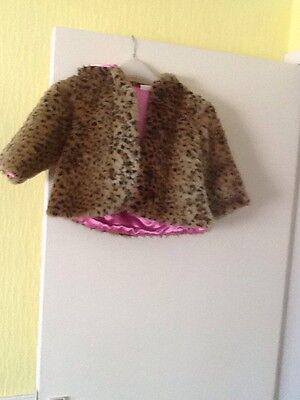 little girls faux fur coat.