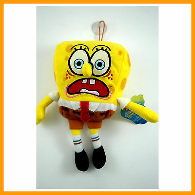 NEW Spongebob Squarepants Plush Doll Soft Toy Keyring Keychain with Suction Cup