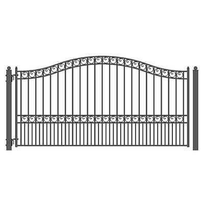 ALEKO Paris Style Ornamental Iron Wrought Single Swing 14' Driveway Gate