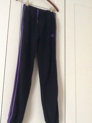 Adidas Girls Track Pants Black Size 13/14 Years