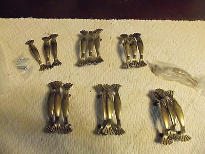 Lot of 18 pcs Vintage  Solid Brass CLOSETS Cabinet Door Drawer Handle Pulls