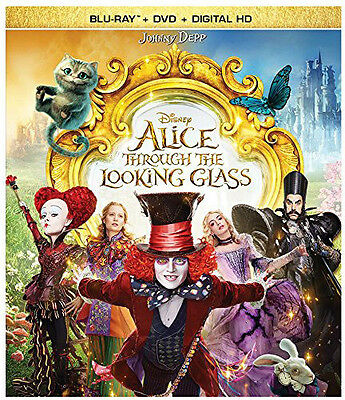 Alice Through The Looking Glass - 2 DISC SET (2016, Blu-ray NUOVO) (REGIONE A)