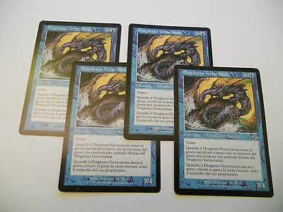 4x MTG Draghetto Vermezanna-Wormfang Drake Magic EDH JUD Sentenza ITA-ING x4