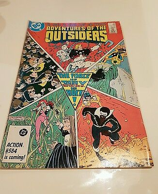 Adventures Of The Outsiders #39 1986 Comic