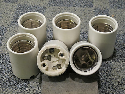 6 PORCELAIN MOGUL SOCKET with SCREW TERMINALS for WIRING