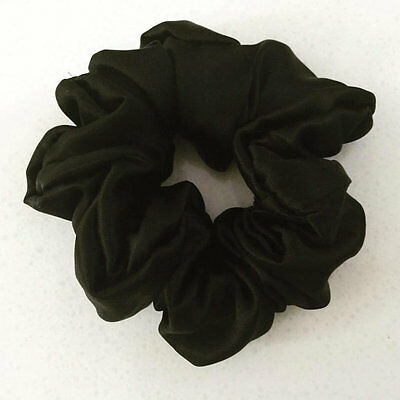 100% pure mulberry silk hair scrunchie charmeuse hair accessories free shipping