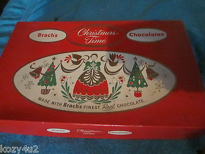 Vintage candy box BRACH'S CHRISTMAS TIME CHOCOLATES E J Brach & Sons Chicago ILL