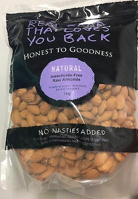 1kg Raw Australian Almonds Insecticide Free - Honest To Goodness