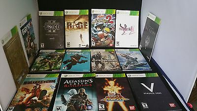 Lot of 40 Microsoft Xbox 360 Manual/Instructions Booklets Bundle Manuals ONLY