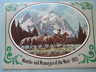 1975 Calendar Months & Memories of the West Leanin' Tree Western Artists