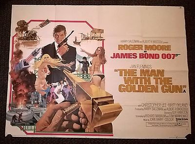 JAMES BOND- THE MAN WITH THE GOLEN GUN   (1974) - Original UK Quad Poster