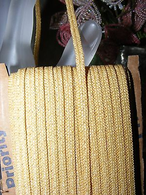 ** Vintage Millinery Straw Braid For Doll Hats * 14 Yards * Medium Natural  **