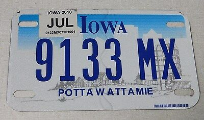 2010 Iowa motorcycle license plate