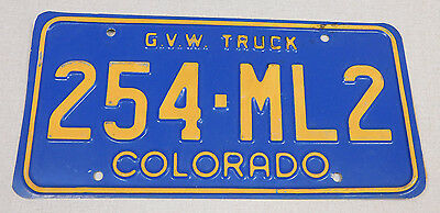 1990's Colorado gross vehicle weight truck license plate