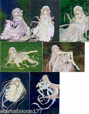 Chobits Manga Trading Collection Complete B1-B7 Foil Csrds Set