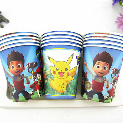 10pcs New Creative Anime Degradable Disposable Paper Cups Drinking Party Office