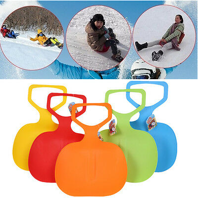 Durable Sports Kids Adult Winter Plastic Grass Skiing Pad Snow Sledge Board Gift
