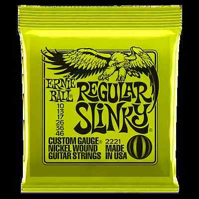 Ernie Ball Regular Slinky Electric Guitar Strings 10-46 Lime