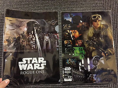 A STAR WARS Story Japan cinema clear file! ROGUE ONE rare LucasFilm collectible