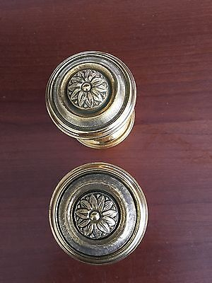 ANTIQUE PAIR PE Guerin DoorKNOBS Louis XVI WITH BACKPLATES, Style No. 70800