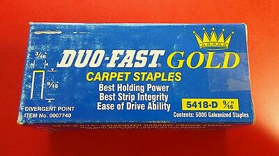 Duo-Fast 5418-d 9/16-Inch Carpet Staples with Divergent Points, 5000-Pack