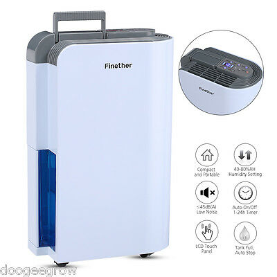 12L Digital LED Anion Dehumidifier Purify Continuous Drying Clothes Low Energy