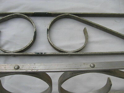 vintage Set lot Screen Door Scroll grill Guards galvanized aluminum MCM hardware