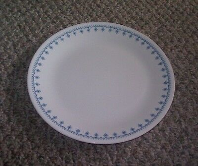 8 Corelle Blue Garland Snowflake Dinner Plates More Available