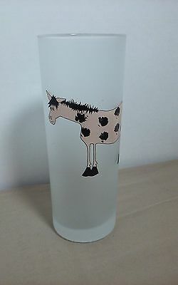 FROSTED GLASS With Cartoon Horse