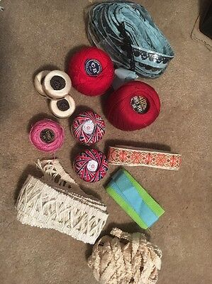 Lot of Misc Vintage Thread and Trim