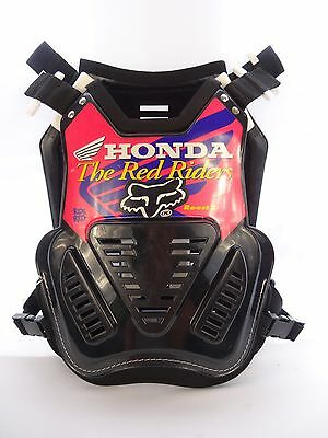 VINTAGE 90's FOX HONDA RED RIDERS ROOST 2 CHEST PROTECTOR