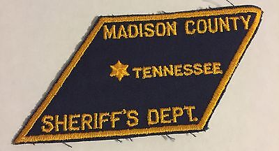 Madison County Tennessee State Shaped Police Sheriff Patch