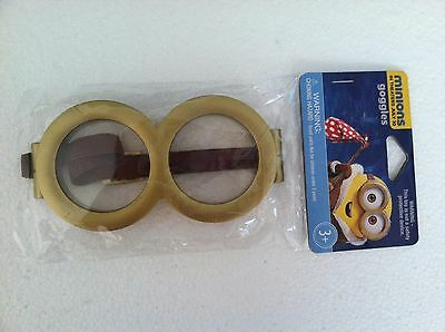 NEW Minions Movie Golden Adjustable Goggles costume HALLOWEEN Despicable Me