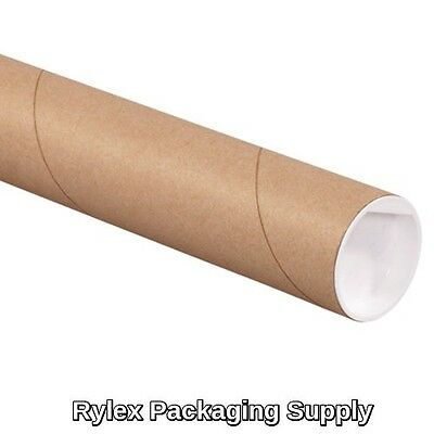 2 - 2x15 Kraft Mailing Shipping Packing Tubes Document Poster Blueprints