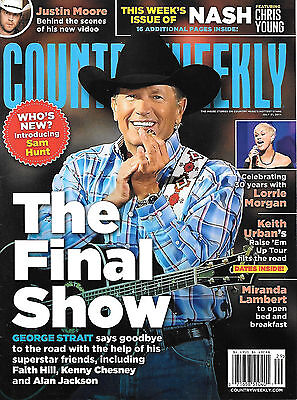 Country Weekly magazine w/ George Strait - July 21, 2014 cover